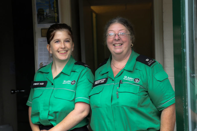 St Johns Ambulance firstaiders on standby at the Tardebigge Fair and Show 2016